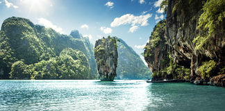 James Bond Island. In Thailand Royalty Free Stock Photos