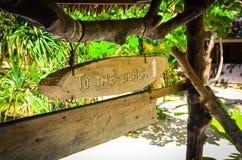 James Bond Island, Thailand. Beach pointer on the tropical island Stock Photography