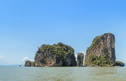 James Bond Island in Thailand. Beautiful landscape of James Bond Island or Koh Tapu in Phang Nga Bay, Thailand Royalty Free Stock Photography