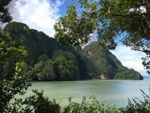 The James Bond Island. Thailand. Mountain view Royalty Free Stock Images