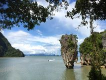 The James Bond Island. Thailand. A view of the islet Ko Tapu Stock Photography