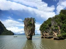 The James Bond Island. Thailand. A view of the islet Ko Tapu Stock Images