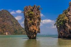 James Bond island in Thailand. Ko Tapu island in the Ao Phang-Nga park, near Phuket, Thailand known as James Bond Island Stock Photos