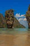 James Bond island in Thailand. Ko Tapu island in the Ao Phang-Nga park, near Phuket, Thailand known as James Bond Island Royalty Free Stock Images