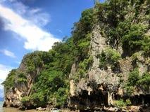 The James Bond Island. Thailand. Mountain view Royalty Free Stock Image