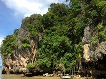 The James Bond Island. Thailand. Mountain view Stock Photo