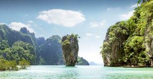 James Bond island in Thailand Stock Photos