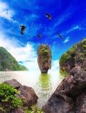 James Bond island Thailand travel destination. Phang Nga bay archipelago Royalty Free Stock Image