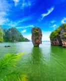 James Bond island Thailand. Travel destination. Phang Nga bay archipelago Stock Photos