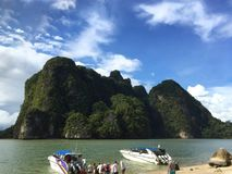 The James Bond Island. Thailand. View from the beach Stock Photo
