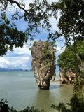 The James Bond Island. Thailand. A view of the islet Ko Tapu Stock Image