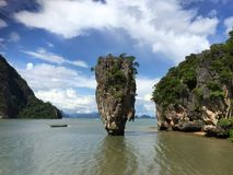 The James Bond Island. Thailand. A view of the islet Ko Tapu Royalty Free Stock Photo