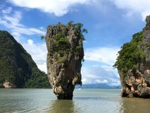 The James Bond Island. Thailand. A view of the islet Ko Tapu Royalty Free Stock Images