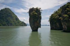 James Bond island, Thailand. View of James Bond island near Phuket, Thailand Royalty Free Stock Images