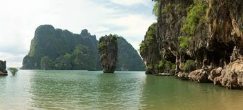James Bond (Ko Tapu) island lagoon panorama Royalty Free Stock Photo