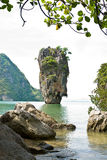 James Bond (Ko Tapu) island vertical Stock Photos