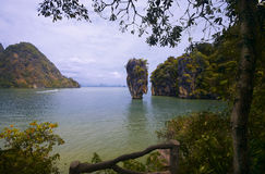 James Bond Rock. Khao Phing Kan in Thailand Stock Photo