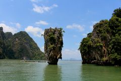 James Bond Rock. In thailand Royalty Free Stock Images