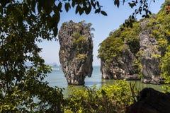 James Bond Rock in Thailand Stock Photos