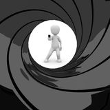 James Bond 007. Is a secret agent for the British MI6 stock illustration
