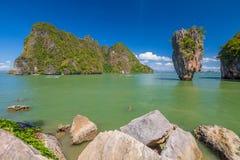 James Bond wyspa Krabi Zdjęcie Stock