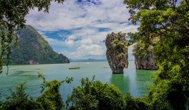 James Bond wyspa, Phang Nga zatoka Tajlandia obraz stock