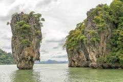 James Bond wyspa, Tajlandia (Ko Tapu) Zdjęcia Stock