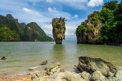 James Bond wyspa, Tajlandia (Koh Tapoo) Fotografia Stock