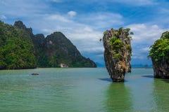 James Bond wyspa, Tajlandia (Koh Tapoo) Obraz Royalty Free