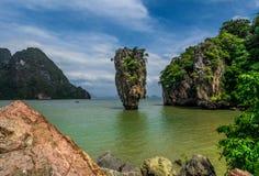 James Bond wyspa, Tajlandia (Koh Tapoo) Obraz Stock