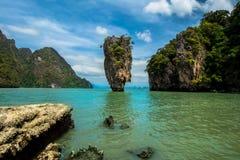 James Bond wyspa, Tajlandia (Koh Tapoo) Fotografia Royalty Free