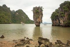 James Bond wyspa w Phang Nga zatoce, Tajlandia Obraz Stock