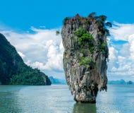 James Bond wyspy lub Koh Tapu wyspa, Phang Nga Andaman morze, Tajlandia obrazy royalty free