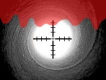 James- Bondgewehrfaß mit Fadenkreuzanblick Stockbild