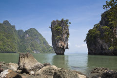 James- Bondinsel, Phang nga Nationalpark Stockbild