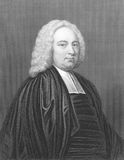 James Bradley. (1693-1762) on engraving from the 1800s. English astronomer. Engraved by E.Scriven from a picture by Richardson and published by W.Mackenzie Stock Images