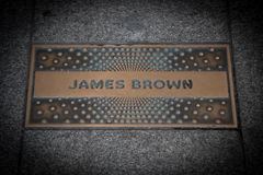 James Brown paving slab Royalty Free Stock Photo