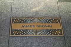 James Brown Plaque Imágenes de archivo libres de regalías