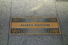 James Brown Plaque Royalty Free Stock Images