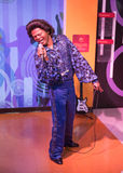 James Brown. Wax statue of James Brown American recording artist and musician,Madame Tussauds museum, Las Vegas royalty free stock photo