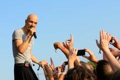 James (Brytyjski zespół rockowy od Machester) występ przy kłamstewko festiwalem Zdjęcia Stock