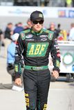 James Buescher an der Spur Stockfoto