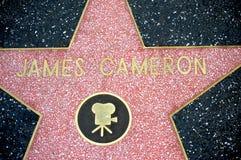James Cameron dans la promenade de Hollywood de la renommée images libres de droits