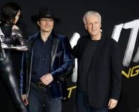 James Cameron en Robert Rodriguez stock afbeelding