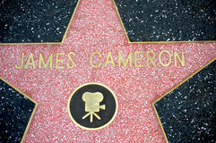 James Cameron in Hollywood's Walk of Fame. HOLLYWOOD - CALIFORNIA 2010: James Cameron's star at the Hollywood's Walk of Fame. Cameron, director of Avatar, has Royalty Free Stock Images