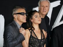 James Cameron, Rosa Salazar i Christoph walc, zdjęcia stock