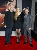 James Cameron, Suzy Amis Cameron et Christoph Waltz photographie stock