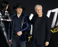 James Cameron und Robert Rodriguez stockbild