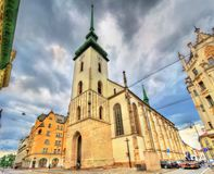James church in the old town of Brno, Czech Republic. James church in the old town of Brno - Moravia, Czech Republic Royalty Free Stock Photography