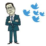 James Comey Vs Donald Trump Bird Icon. Cartoon Vector Illustration. June 12, 2017. James Comey Vs Donald Trump Bird Icon. Cartoon Vector Illustration Drawing royalty free illustration